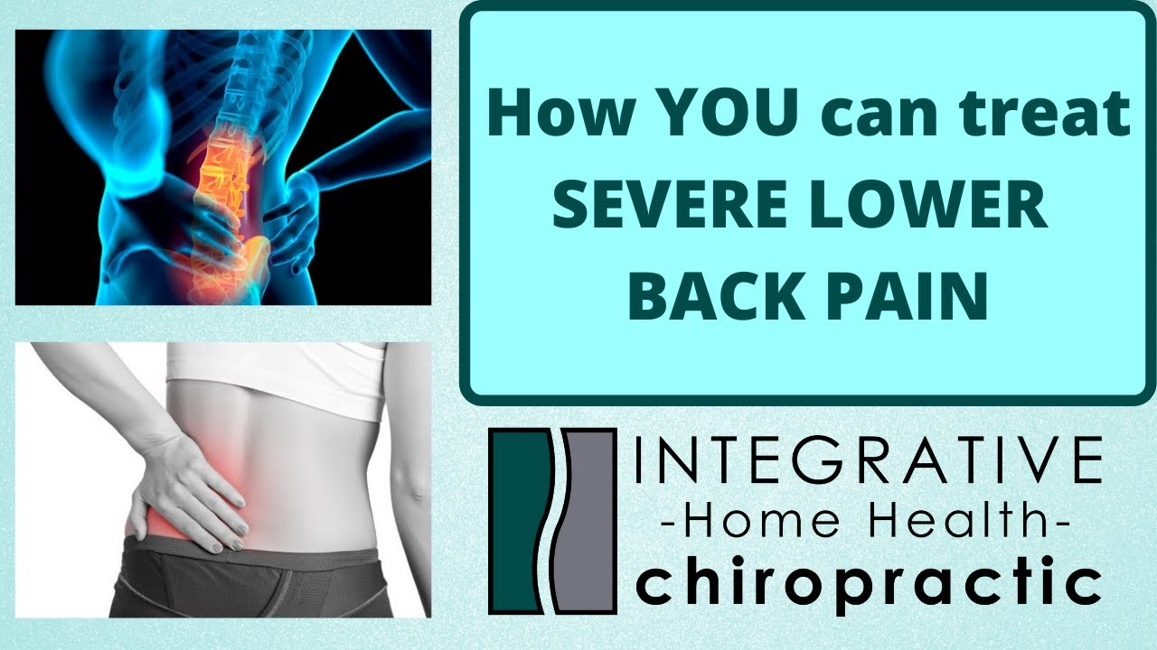 What YOU Can Do when Experiencing Severe Lower Back Pain